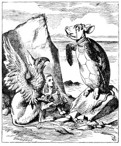 'Once,' said the Mock Turtle at last, with a deep sigh, 'I was a real Turtle.